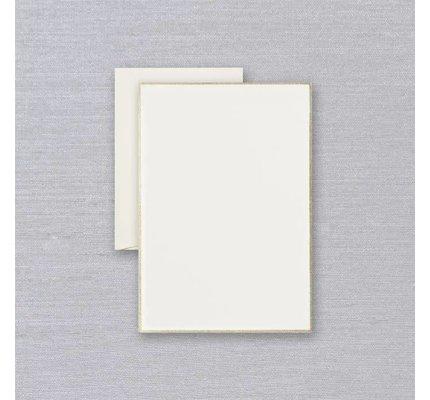 Crane Crane Ecru Gold Bordered Half Sheet