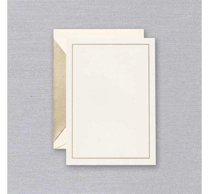 Crane Crane Ecru Gold Frame Card