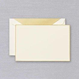 Crane Crane Ecru Gold Bordered Correspondence Card