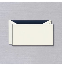 Crane Crane Ecru Navy Bordered Monarch Card