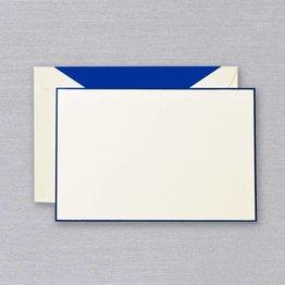 Crane Crane Ecru Regent Blue Bordered Card