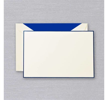 Crane Crane Ecru Regent Blue Bordered Card
