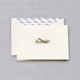Crane Crane Ecru Vintage Airplane Note