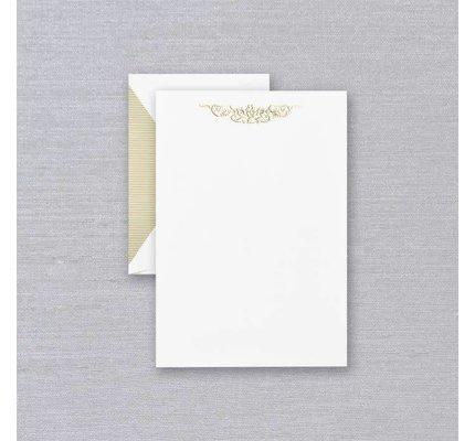 Crane Crane Pearl White Botanical Swag Half Sheet