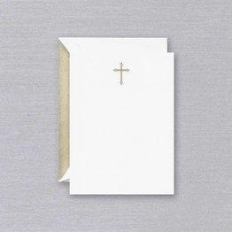 Crane Crane Pearl White Gold Cross Card