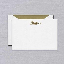 Crane Crane Pearl White Leopard Card