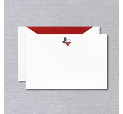 Crane Crane Pearl White Texas Map Card