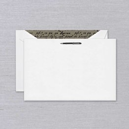 Crane Crane Pearl White Fountain Pen Card