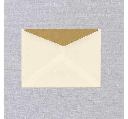 Crane Crane Ecru Gold Lustre Lined Envelope