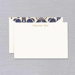 Crane Crane Ecru Gold Regency Thank You Card