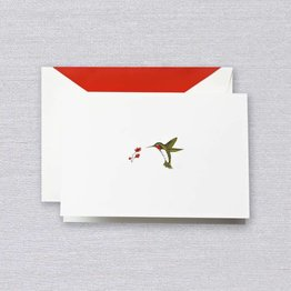 Crane Crane Pearl White Hummingbird Note