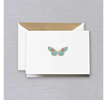 Crane Crane Pearl White Butterfly Note