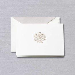 Crane Crane Pearl White Queen Anne Lace Note