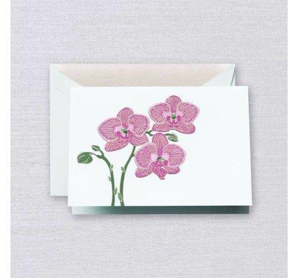 Crane Crane Beach Glass Orchid Note