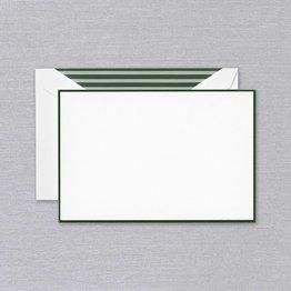 Crane Crane Pearl White Hunter Green Bordered Card