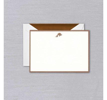Crane Crane Pearl White Koi Copper Bordered Card
