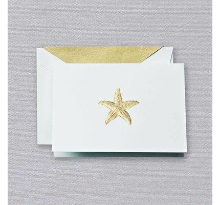 Crane Crane Beach Glass Starfish Note