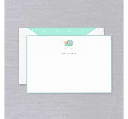 Crane Crane Pearl White Many Thanks Thank You Card