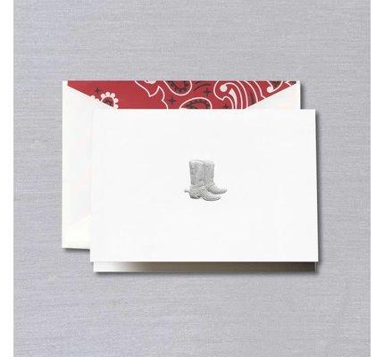 Crane Crane Pearl White Cowboy Boots Note