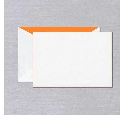 Crane Crane Pearl White Orange Foil Edged Card