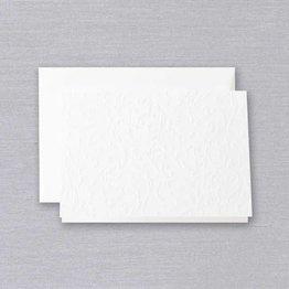 Crane Crane Pearl White Blind Embossed Note