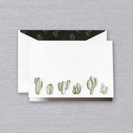 Crane Crane Pearl White Cactus Note