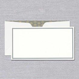Crane Crane Pearl White Charcoal Frame Monarch Card