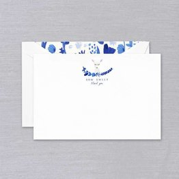Crane Crane Pearl White How Sweet Thank You Card