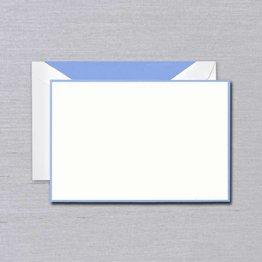 Crane Crane Pearl White Newport Bordered Card