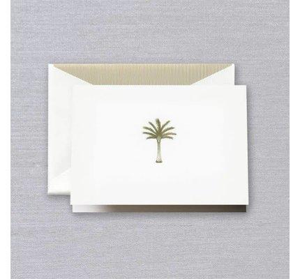 Crane Crane Pearl White Palm Tree Note