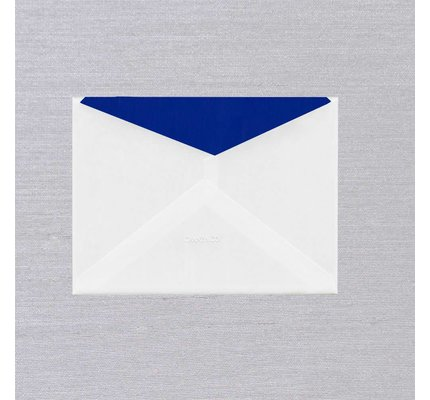 Crane Crane Pearl White Regent Blue Lined Envelope (Discontinued)