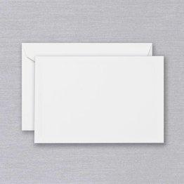 Crane Crane Pearl White Triple Debossed Card