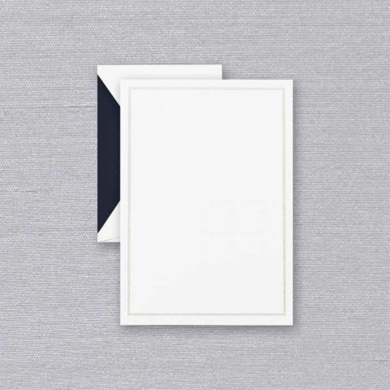 Crane Crane Pearl White Triple Navy Frame Half Sheet