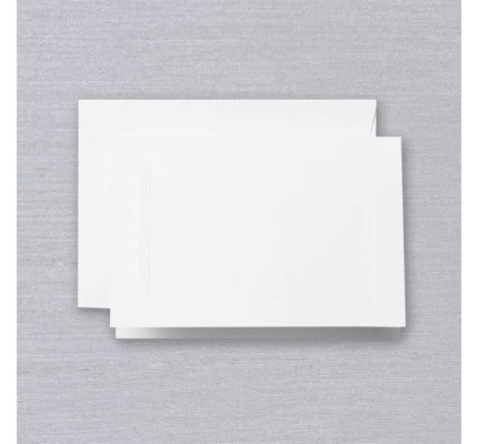 Crane Crane Pearl White Triple Debossed Note (Discontinued)