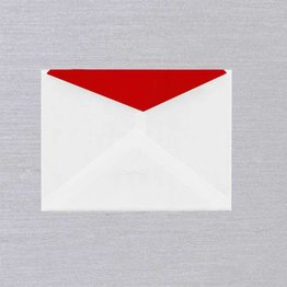 Crane Crane Pearl White Red Lined Envelope