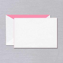 Crane Crane Pearl White Pink Foil Edged Card