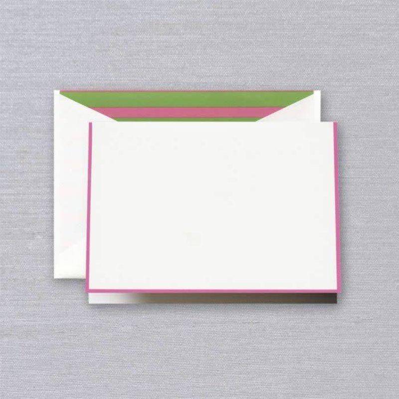 Crane Crane Raspberry Bordered Note