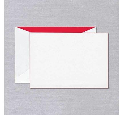 Crane Crane Pearl White Red Foil Edged Card