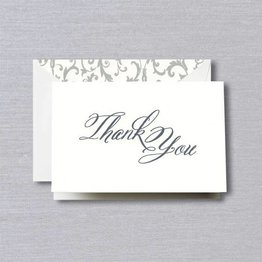 Crane Crane Pearl White Script Thank You Note