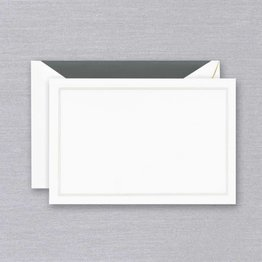 Crane Crane Pearl White Triple Charcoal Card