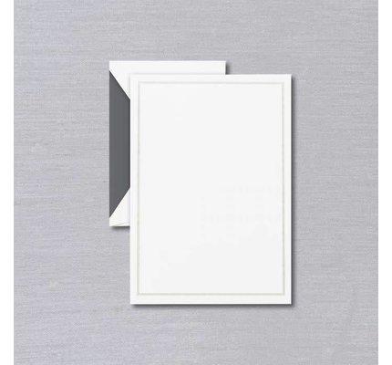 Crane Crane Pearl White Triple Charcoal Frame Half Sheet
