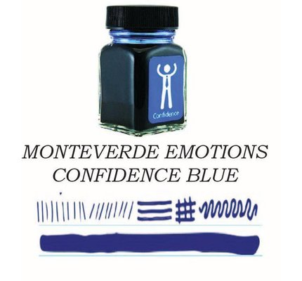 Monteverde Monteverde Confidence Blue - 30ml Bottled Ink