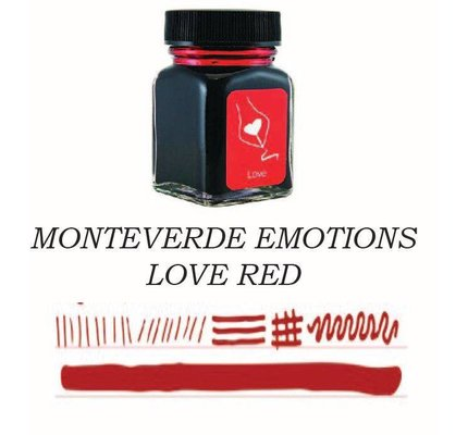 Monteverde Monteverde Love Red - 30ml Bottled Ink