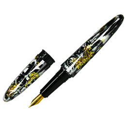 Benu Benu Briolette Fountain Pen Black & White Fine