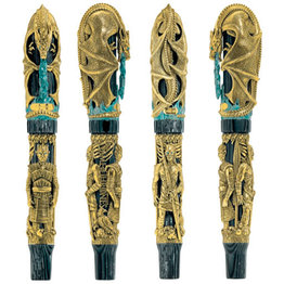 Montegrappa Montegrappa Limited Edition Game of Thrones Winter is Coming Gold Rollerball Pen