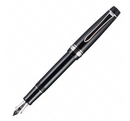 Pilot Pilot Custom 912 Black Fountain Pen with Rhodium Trim