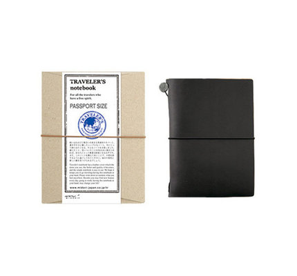 Traveler's Traveler's Notebook Passport Size Black
