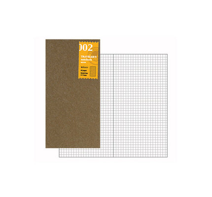 Traveler's Traveler's Notebook #002 Regular Refill Grid