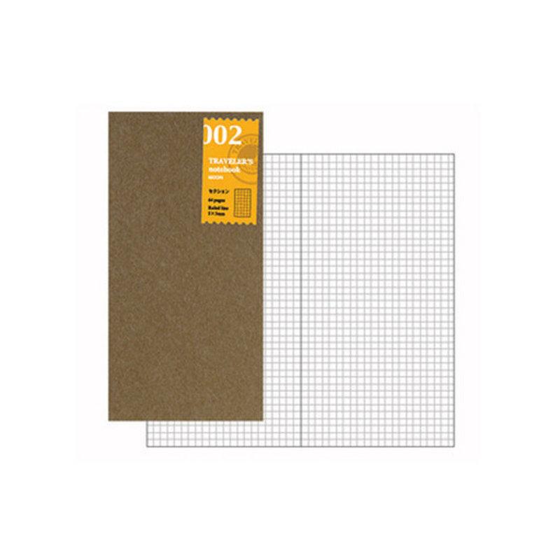 Traveler's Traveler's Notebook #002 Regular Refill Grid