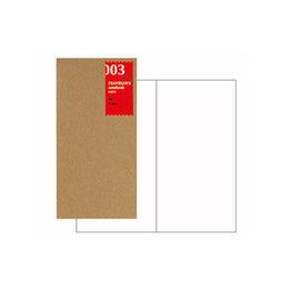 Traveler's Traveler's Notebook #003 Regular Refill Blank